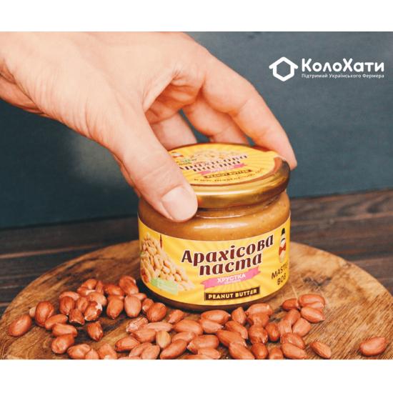 Арахисовая паста хрустящая сладкая (300г) от Олега Мельника