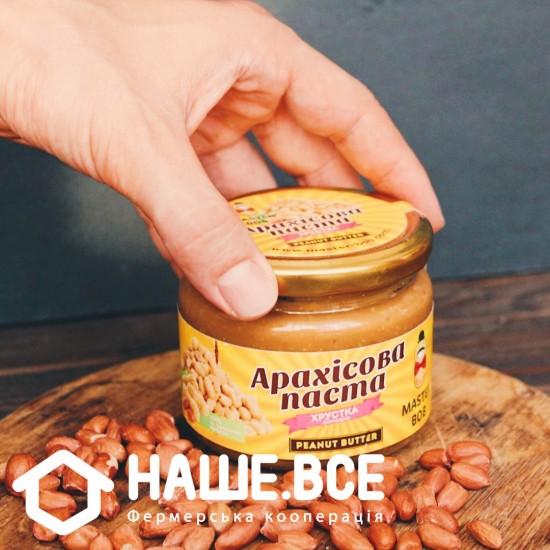 Арахисовая паста хрустящая сладкая (200г) от Олега Мельника