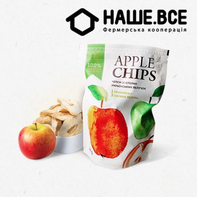 Купить - Яблучні чіпси від Олени Большакової