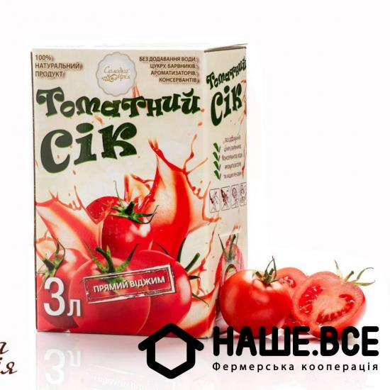 Сок томатный 3л ТМ