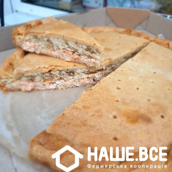 Пирог с лососем и сыром, 1,3кг